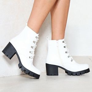 Nasty Gal The Life and Sole Vegan Leather Boot